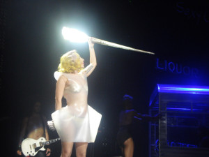 Look! Lady Gaga!  And a shiny stick! Wait, what was I talking about again?