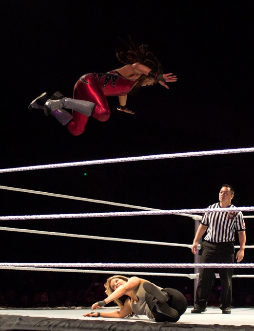 No, that's not J soaring through the air......yet....