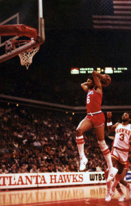 B's shorts showed way more leg. Sorry, Dr. J!