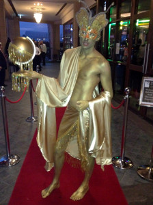 Unfortunately for B, we were out of gold body paint, for his red carpet premiere.