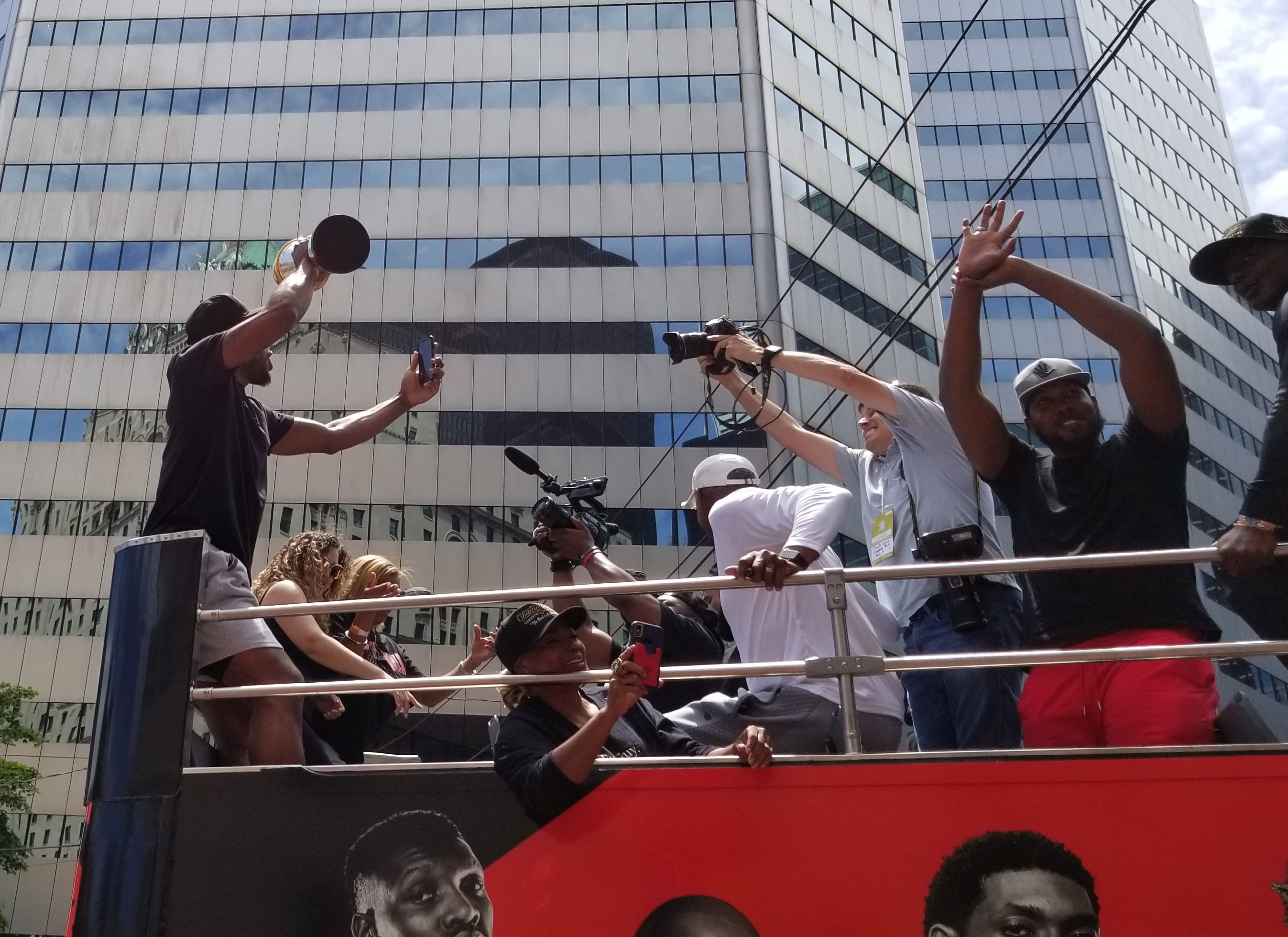 Kawhi Leonard at the Toronto Raptors NBA Championship Parade